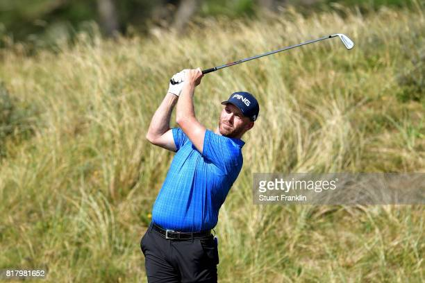 Adam Bland of Australia in action during a practice round prior to the 146th Open Championship at Royal Birkdale on July 18 2017 in Southport England