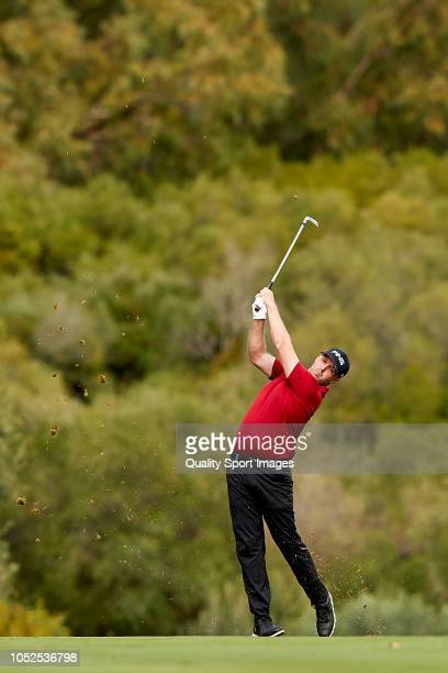 Adam Bland of Australia in action during day two of Andalucia Valderrama Masters 2018 at Real Club Valderrama on October 19 2018 in Cadiz Spain
