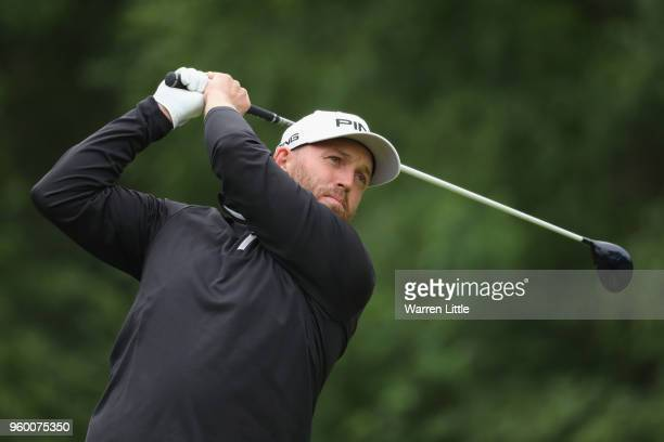 Adam Bland of Australia plays his shot off the 8th during the knockout stage on day three of the Belgian Knockout at Rinkven International Golf Club...