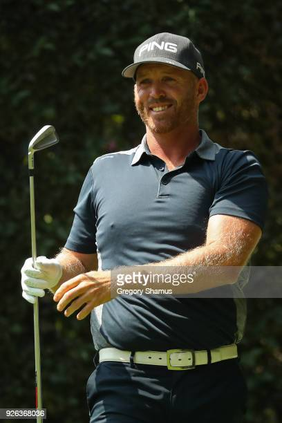 Adam Bland plays his shot from the second tee during the second round of World Golf ChampionshipsMexico Championship at Club de Golf Chapultepec on...