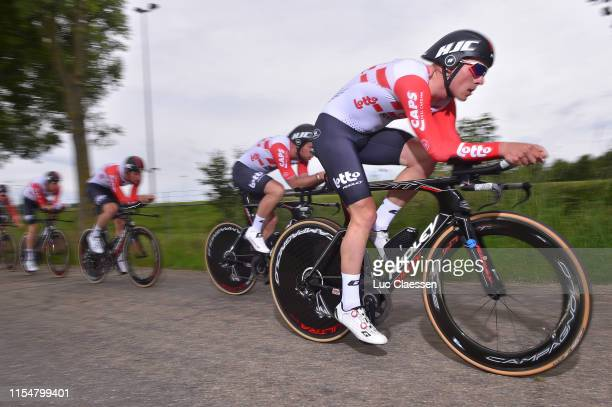 Adam Blythe of the United Kingdom and Team Lotto Soudal / Frederik Frison of Belgium and Team Lotto Soudal / Brent Van Moer of Belgium and Team Lotto...
