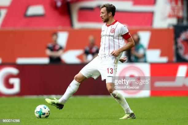 Adam Bodzek of Duesseldorf runs with the ball during the Second Bundesliga match between Fortuna Duesseldorf and FC Ingolstadt 04 at EspritArena on...
