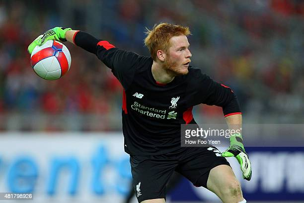 Adam Bogdan in action during the international friendly match between Malaysia XI and Liverpool FC at Bukit Jalil National Stadium on July 24 2015 in...