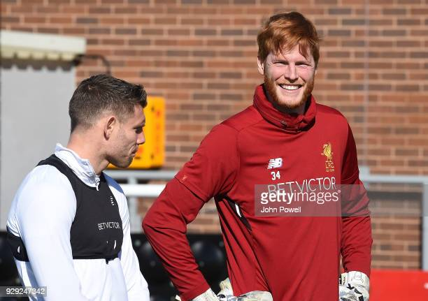Adam Bogdan of Liverpool during a training session at Melwood Training Ground on March 8 2018 in Liverpool England