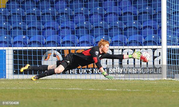 Adam Bogdan of Liverpool in action during the Liverpool v Southampton Barclays U21 Premier League game at the Lookers Vauxhall Stadium on March 20...
