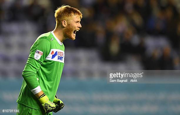 Adam Bogdan of Wigan Athletic during the Sky Bet Championship match between Wigan Athletic and Wolverhampton Wanderers at DW Stadium on September 27...