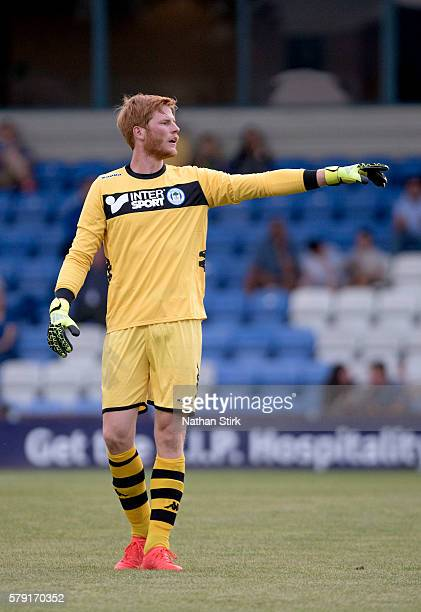 Adam Bogdan of Wigan Athletic in action during the PreSeason Friendly between Macclesfield Town and Wigan Athletic at Moss Rose Ground on July 20...