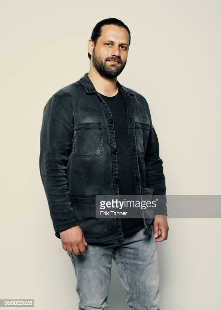 Adam Bousdoukos of the film Smuggling Hendrix poses for a portrait during the 2018 Tribeca Film Festival at Spring Studio on April 22 2018 in New...