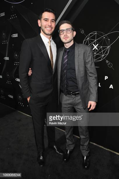 Adam Braun and Alex Soros attend the Pencils of Promise 10th Anniversary Gala at the Duggal Greenhouse on October 24, 2018 in New York City.