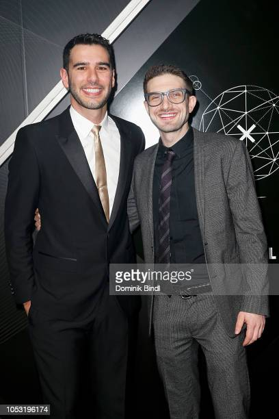 Adam Braun and Alex Soros attend the Pencils of Promise 10th Anniversary Gala at Duggal Greenhouse on October 24 2018 in Brooklyn New York