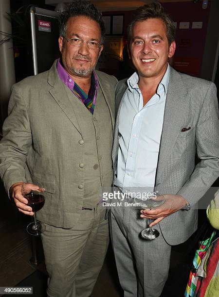 Adam Bricusse and Nolan Hemmings attend the press night of Pure Imagination The Songs of Leslie Bricusse at the St James Theatre on September 29 2015...