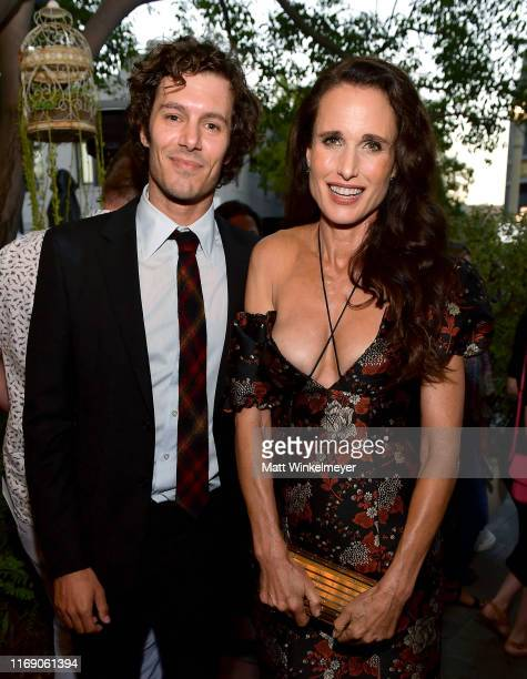 Adam Brody and Andie MacDowell attend the LA Screening Of Fox Searchlight's Ready Or Not at ArcLight Culver City on August 19 2019 in Culver City...