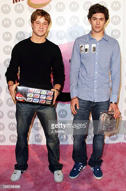 Adam Brody and Benjamin McKenzie during Motorola Hosts 5th Anniversary Party Benefiting Toys For Tots Arrivals at Private Location in Culver City...