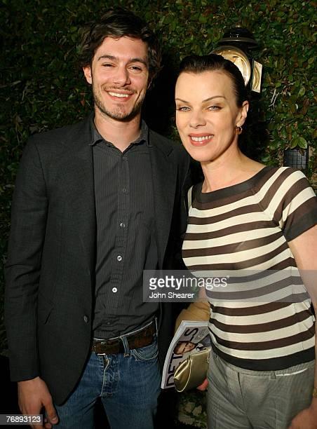 Adam Brody and Debi Mazar in Emporio Armani