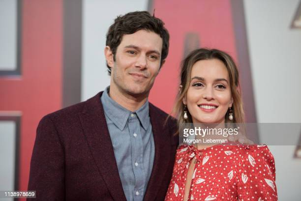 Adam Brody and Leighton Meester arrive at Warner Bros Pictures and New Line Cinema's world premiere of SHAZAM at TCL Chinese Theatre on March 28 2019...