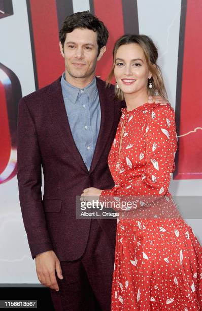 Adam Brody and Leighton Meester arrive for the Warner Bros Pictures And New Line Cinema's World Premiere Of SHAZAM held at TCL Chinese Theatre on...