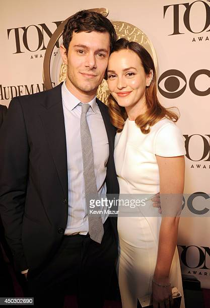 Adam Brody and Leighton Meester attend the 68th Annual Tony Awards at Radio City Music Hall on June 8 2014 in New York City