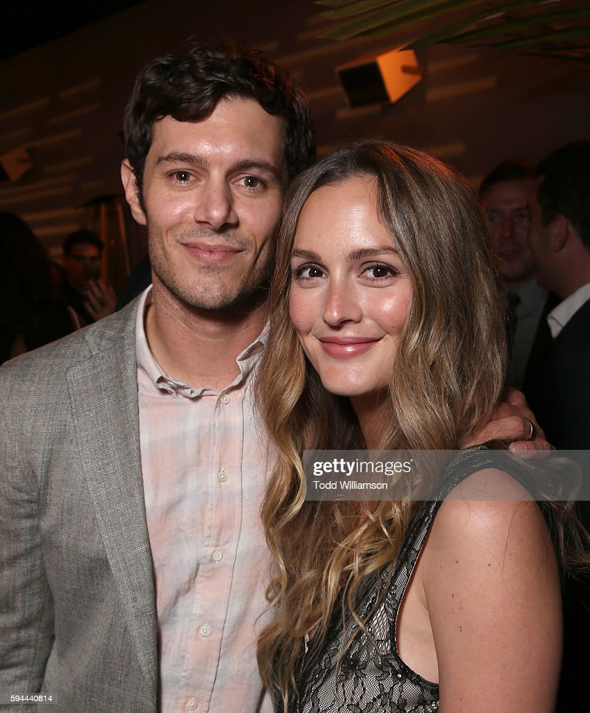 Adam Brody and Leighton Meester attend the after party for the premiere pf Crackle's 'Startup' on August 23, 2016 in Los Angeles, California.