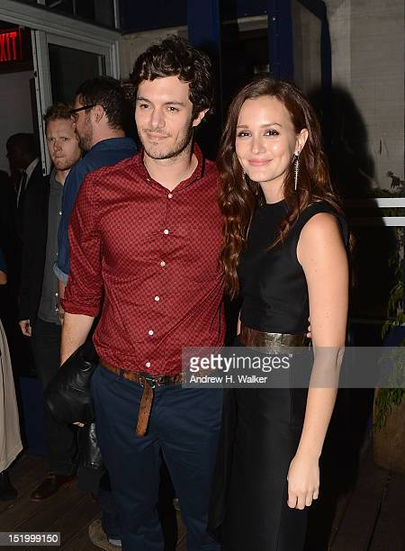 Adam Brody and Leighton Meester attend The Cinema Society with The Hollywood Reporter Samsung Galaxy S III host a screening of The Oranges After...