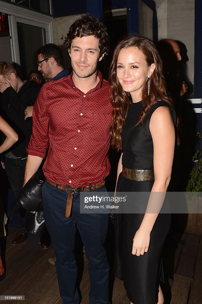 Adam Brody and Leighton Meester attend The Cinema Society with The Hollywood Reporter & Samsung Galaxy S III host a screening of 'The Oranges' After Party at Jimmy's at James Hotel on September 14, 2012 in New York City.