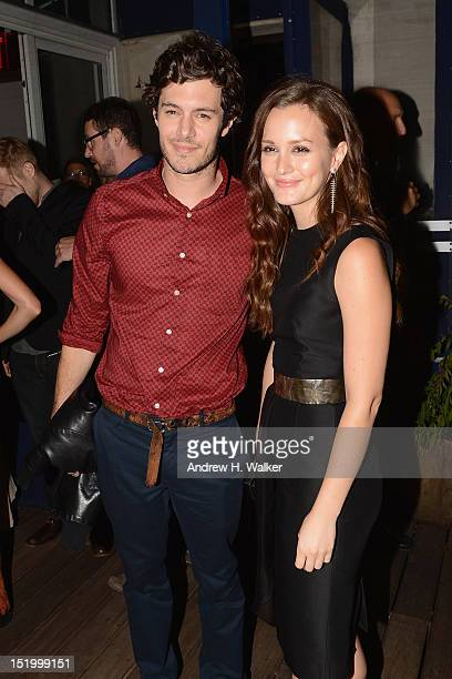 Adam Brody and Leighton Meester attend The Cinema Society with The Hollywood Reporter Samsung Galaxy S III host a screening of 'The Oranges' After...