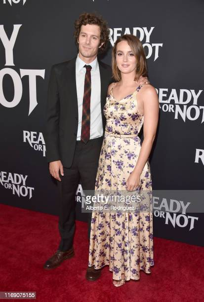 Adam Brody and Leighton Meester attend the premiere of Fox Searchlight's Ready Or Not at ArcLight Culver City on August 19 2019 in Culver City...