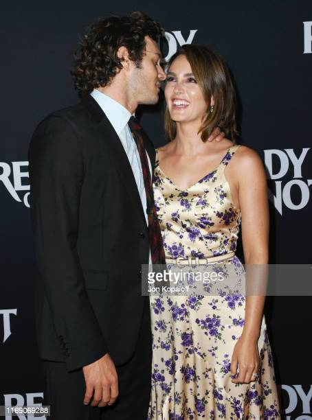 Adam Brody and Leighton Meester attend the LA Screening Of Fox Searchlight's Ready Or Not at ArcLight Culver City on August 19 2019 in Culver City...