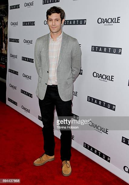 Adam Brody attends the premiere of Crackle's 'Startup' at The London Hotel on August 23 2016 in West Hollywood California