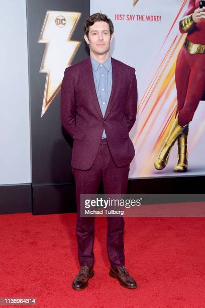Adam Brody attends the Warner Bros Pictures And New Line Cinema's World Premiere Of SHAZAM at TCL Chinese Theatre on March 28 2019 in Hollywood...