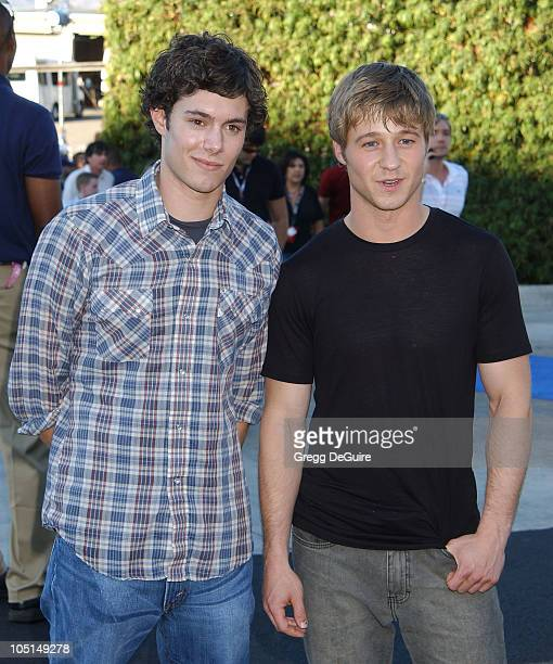 Adam Brody Benjamin McKenzie of The OC during 2003 Teen Choice Awards Arrivals at Universal Amphitheatre in Universal City California United States