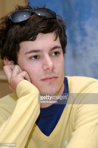 Adam Brody during The OC Press Conference with Mischa Barton Rachel Bilson Adam Brody Ben McKenzie Peter Gallagher Kelly Rowan and Melinda Clarke at...