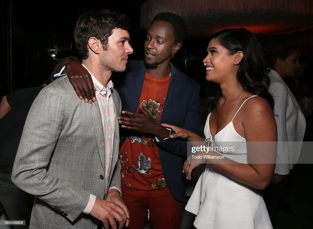 Adam Brody, Edi Gathegi and Otmara Marrero attend the after party for the premiere pf Crackle's 'Startup' on August 23, 2016 in Los Angeles, California.
