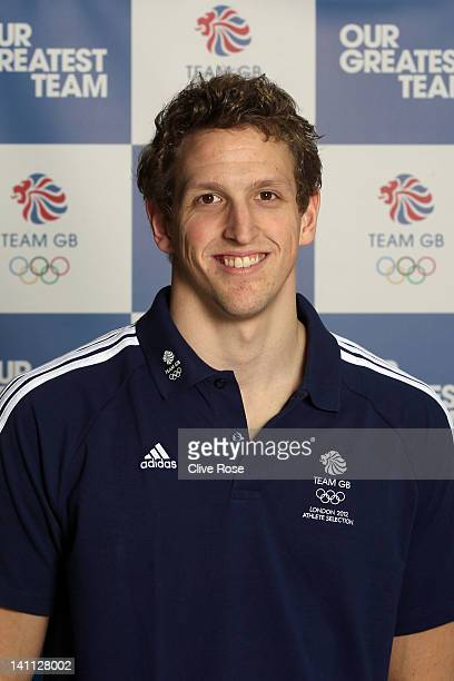 Adam Brown of Great Britain poses during day eight of the British Gas Swimming Championships at The London Aquatics Centre on March 10 2012 in London...