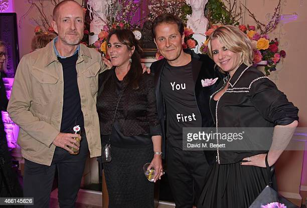 Adam Brown Solange Azagury Partridge Tom KonigOppenheimer and Fiona Golfar attend a party hosted by Vogue Editor Alexandra Shulman in honor of...