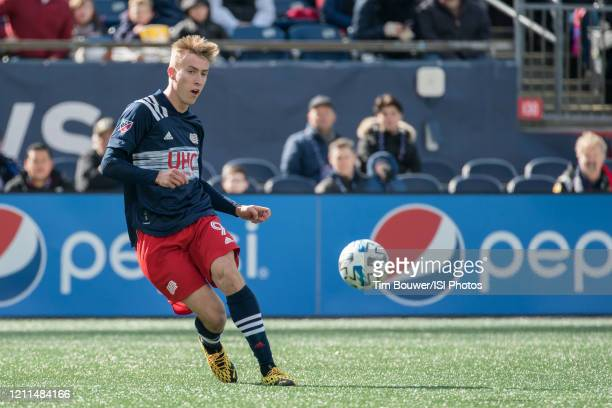 Adam Buksa of New England Revolution during a game between Chicago Fire and New England Revolution at Gillette Stadium on March 7 2020 in Foxborough...