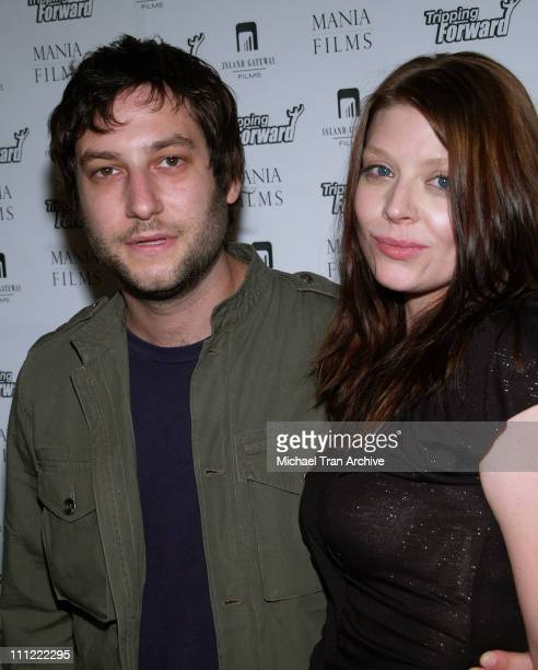 Adam Bush and Amber Benson during 'Tripping Forward' Los Angeles Screening Arrivals at Fine Arts Theater in Beverly Hills California United States
