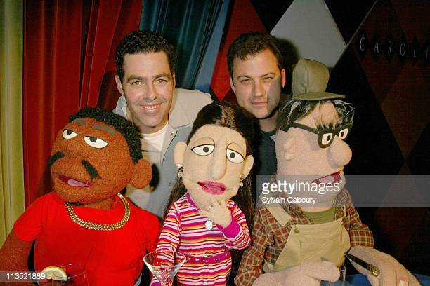 Adam Carolla Jimmy Kimmel Crank Yankers Puppets during Premiere Party for Comedy Central's New Series Crank Yankers at Caroline's in New York City...