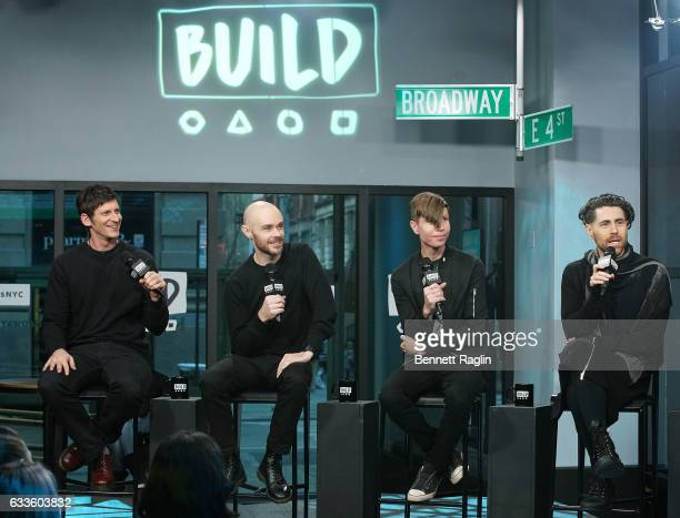 Adam Carson Hunter Burgan Jade Puget and Davey Havok of AFI attend the Build series at Build Studio on February 2 2017 in New York City