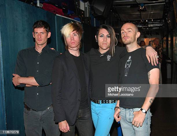 Adam Carson Jade Puget Davey Havok and Hunter of AFI