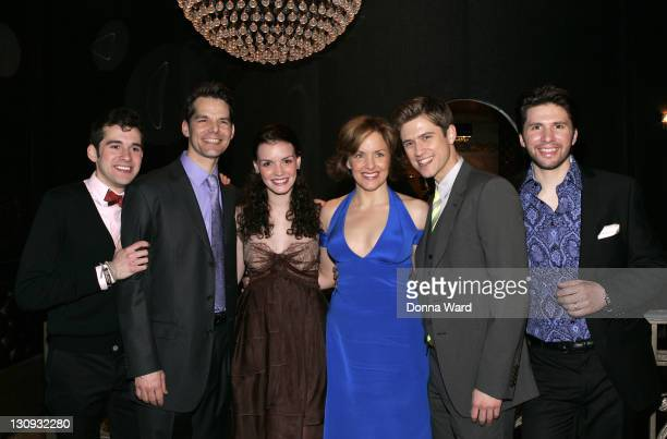 Adam ChanlerBerat J Robert Spencer Jennifer Damiano Alice Ripley Aaron Tveit and Louis Hobson attend the party following the opening night of Next to...