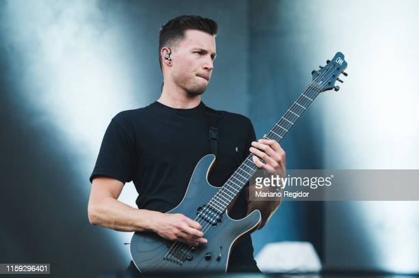 Adam Christianson of Architects performs on stage during day 3 of Download festival 2019 at La Caja Magica on June 30 2019 in Madrid Spain