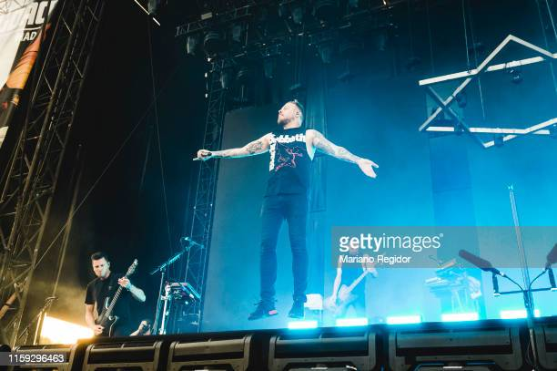 Adam Christianson Sam Carter and Alex Dean of Architects perform on stage during day 3 of Download festival 2019 at La Caja Magica on June 30 2019 in...