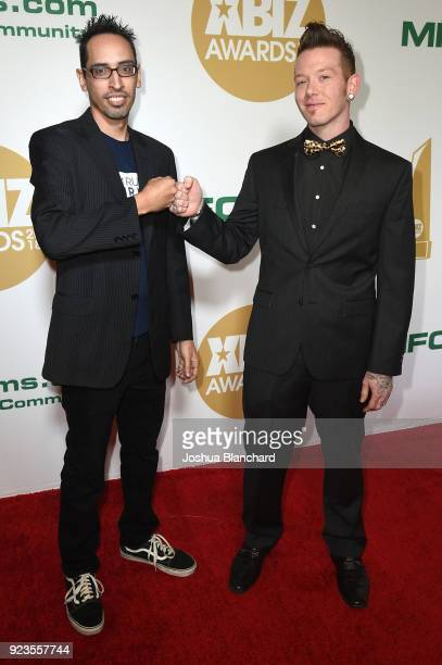 Adam Christopher and Johnny Goodluck attend the 2018 XBIZ Awards on January 18 2018 in Los Angeles California