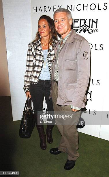 Adam Clayton and guest during Edun One Launch Party at Harvey Nichols in London Great Britain