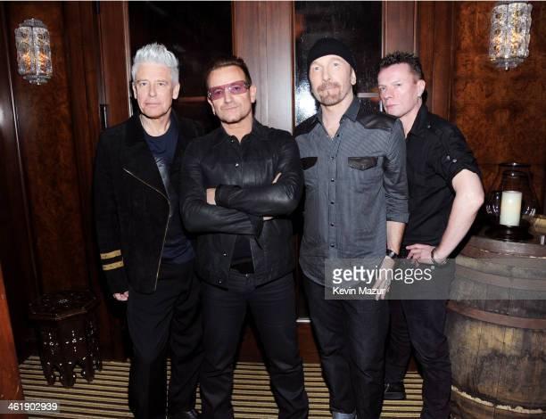 Adam Clayton Bono The Edge and Larry Mullen Jr of U2 attend the 3rd annual Sean Penn Friends HELP HAITI HOME Gala benefiting J/P HRO presented by...
