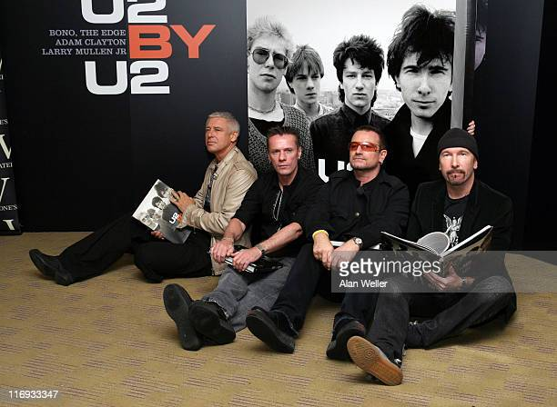 Adam Clayton Larry Mullen Jr Bono and The Edge of U2