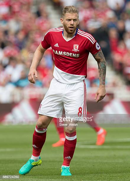 Adam Clayton of Middlesbrough during the Premier League match between Middlesbrough and Stoke City on August 13 2016 in Middlesbrough