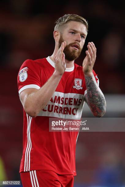Adam Clayton of Middlesbrough during the Sky Bet Championship match between Middlesbrough and Burton Albion at Riverside Stadium on August 15 2017 in...