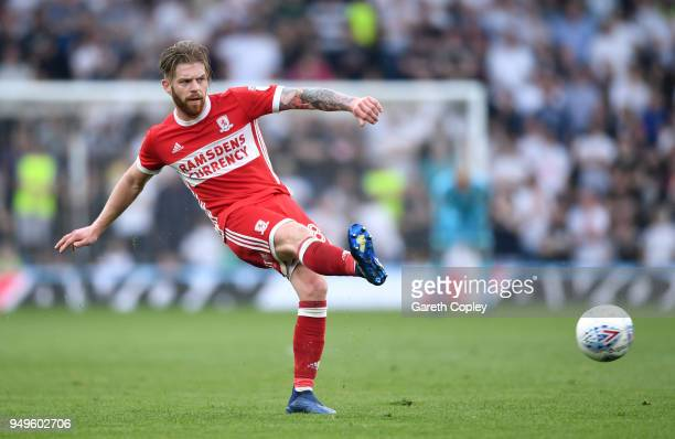 Adam Clayton of Middlesbrough during the Sky Bet Championship match between Derby and Middlesbrough at iPro Stadium on April 21 2018 in Derby England