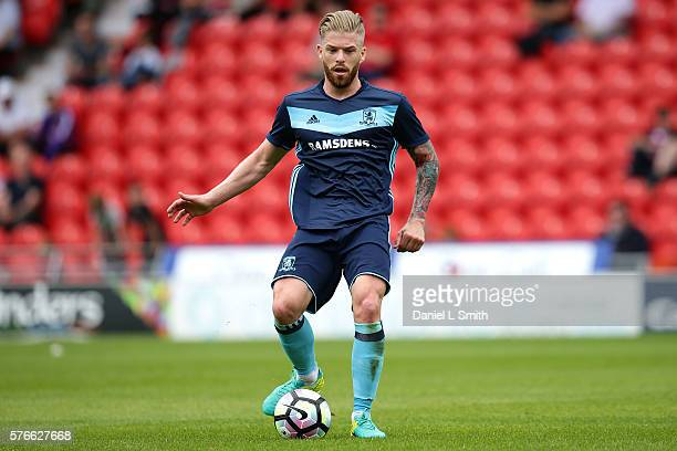 Adam Clayton of Middlesbrough in action during the preseason friendly match between Doncaster Rovers and Middlesbrough at Keepmoat Stadium on July 16...